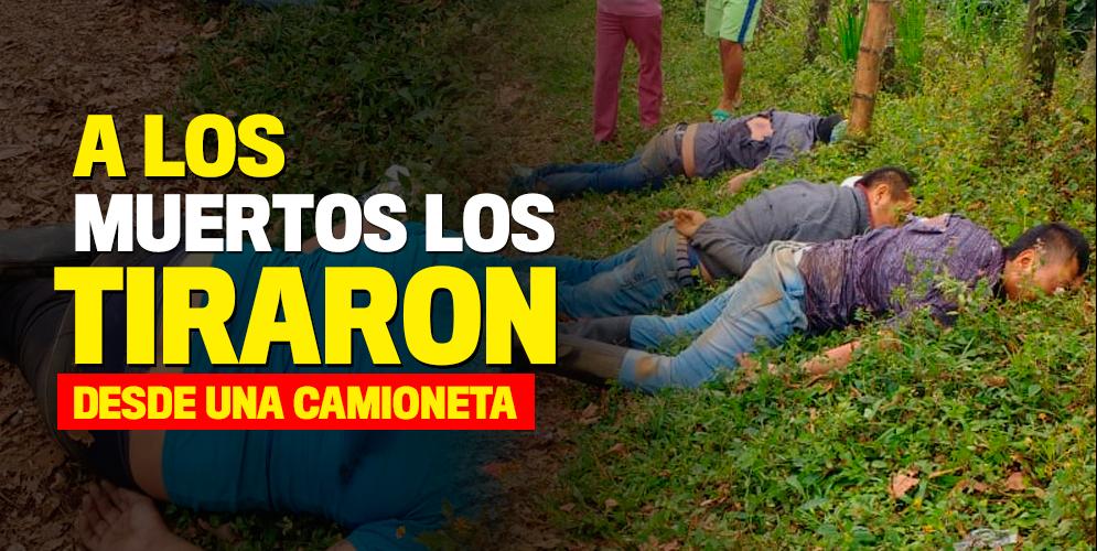 Cuatro cuerpos fueron hallados en San Antonio, Jamundí