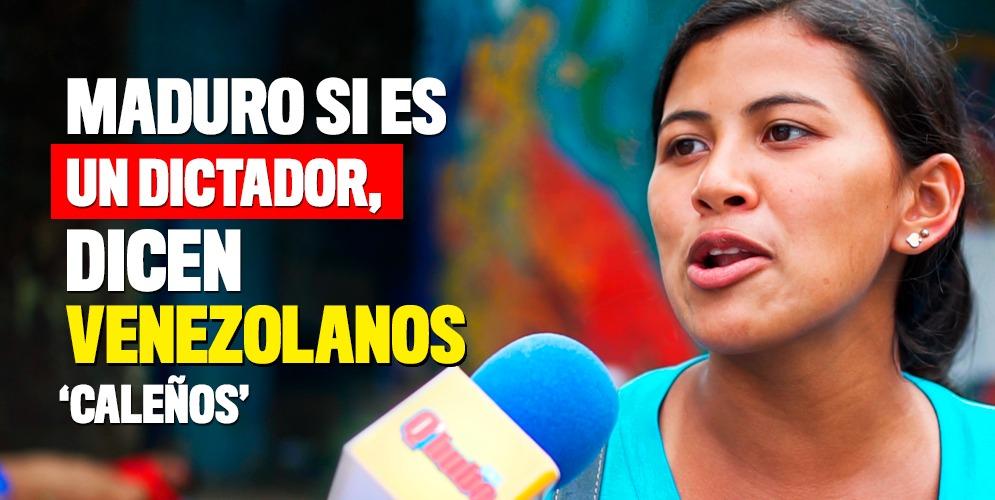 Los venezolanos en Cali hablan de Maduro
