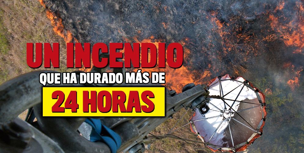 El incendio en La Castilla completa más de 24 horas