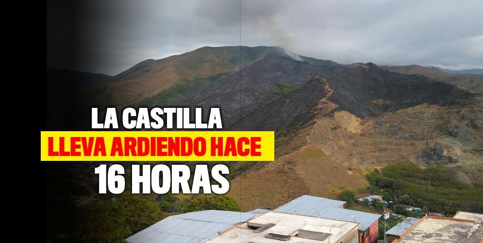 Un nuevo incendio forestal se presentó en La Castilla