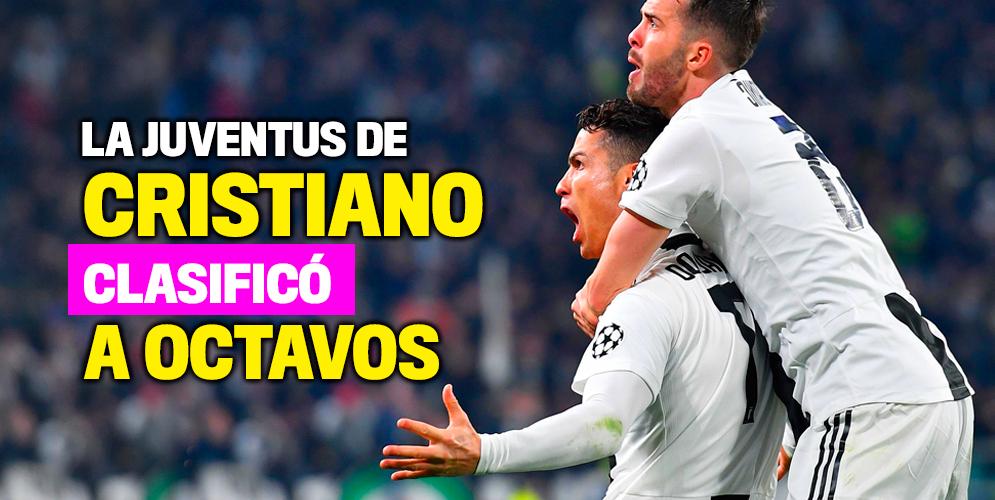 Cristiano Ronaldo puso a la Juventus en octavos de Champions