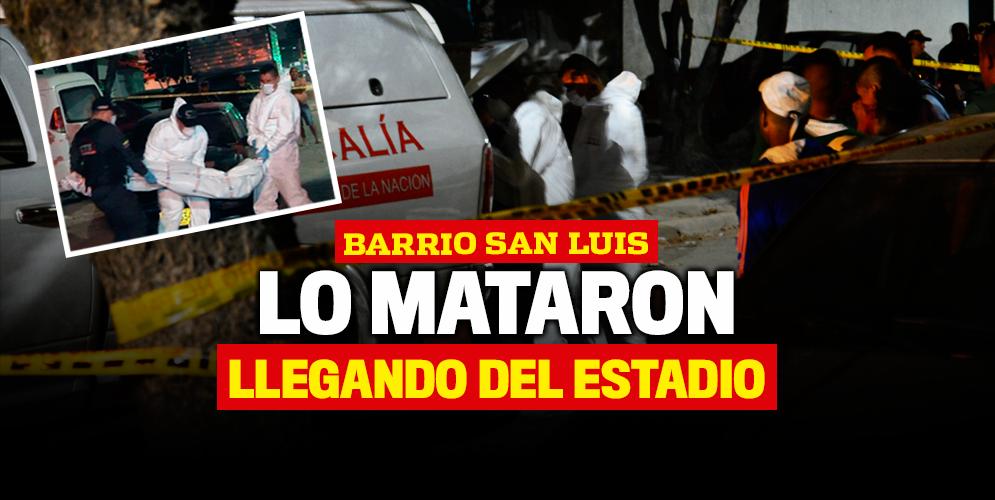 Llegó del estadio a morir al barrio San Luis