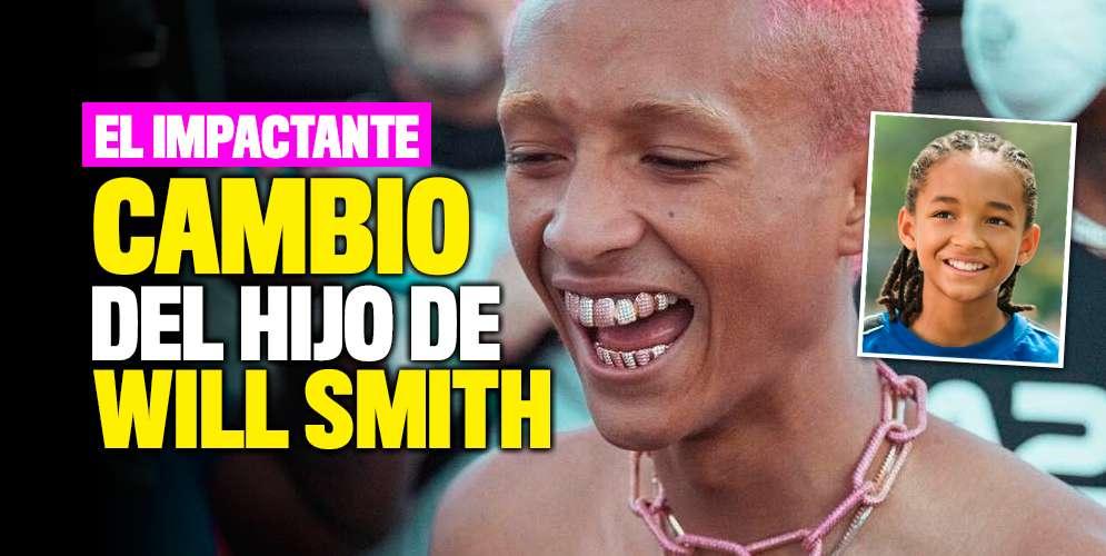 En redes se burlan por el impactante cambio del hijo de Will Smith