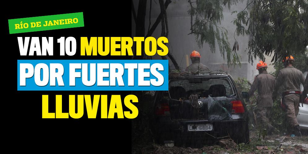 Sube a 10 el número de muertos por temporal en Río de Janeiro