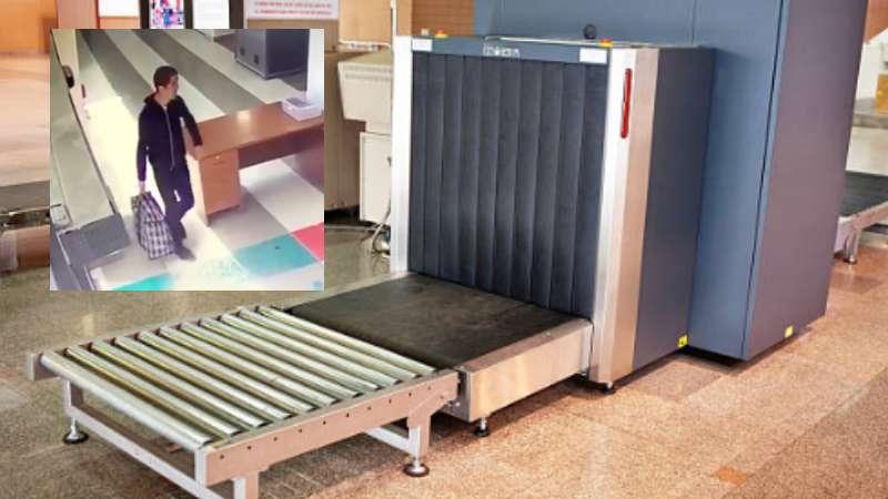 ¡Un hombre se metió al escáner de equipaje en el aeropuerto de Bogotá!