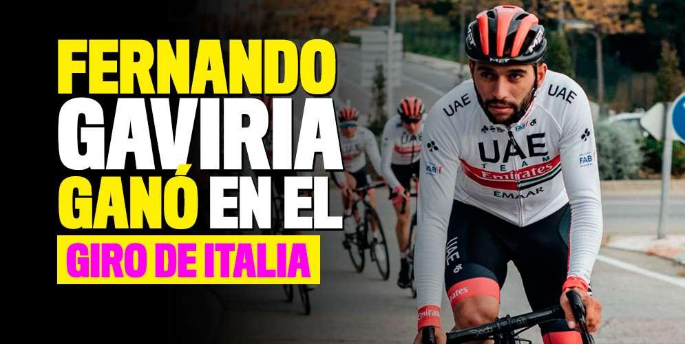 Fernando Gaviria ganó la etapa 3 del Giro de Italia