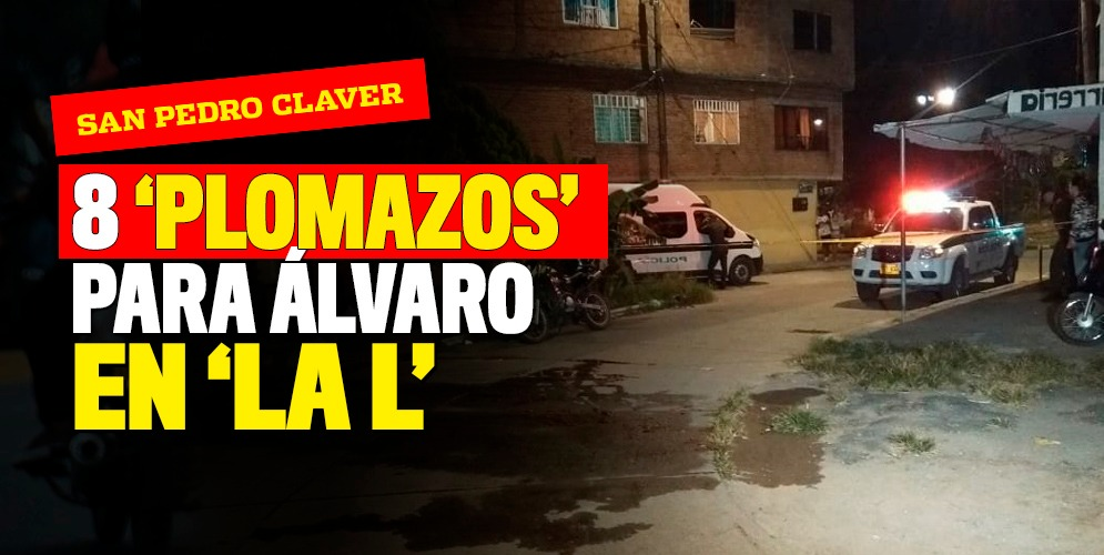 ¡El sicario 'remató' a Álvaro en el piso!