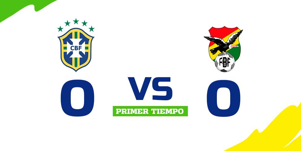 Brasil y Bolivia no se sacaron diferencias en el primer tiempo