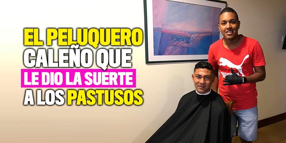 El barbero Andrés Mosquera se convirtió en el amuleto de los finalistas de la Liga Águila