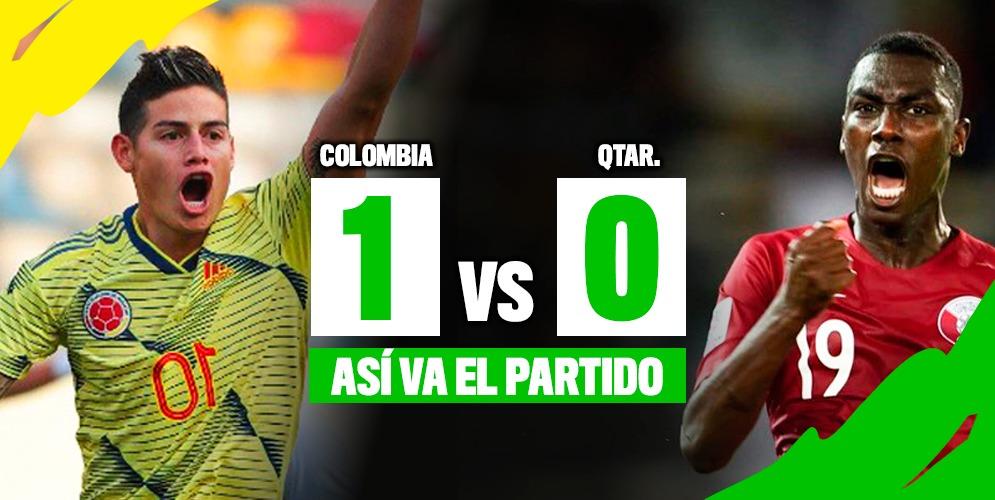 Colombia le gana 1-0 a Catar
