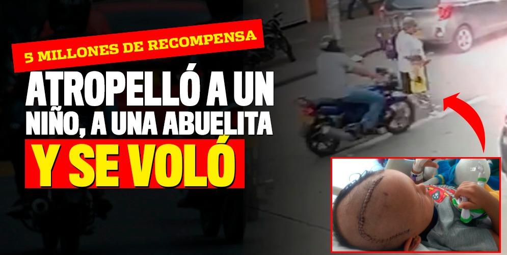 Atropelló a una abuelita, a un niño y se dio a la fuga en el barrio Colón