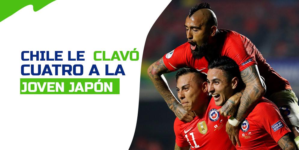Chile tira de campeón para golear a un combativo Japón