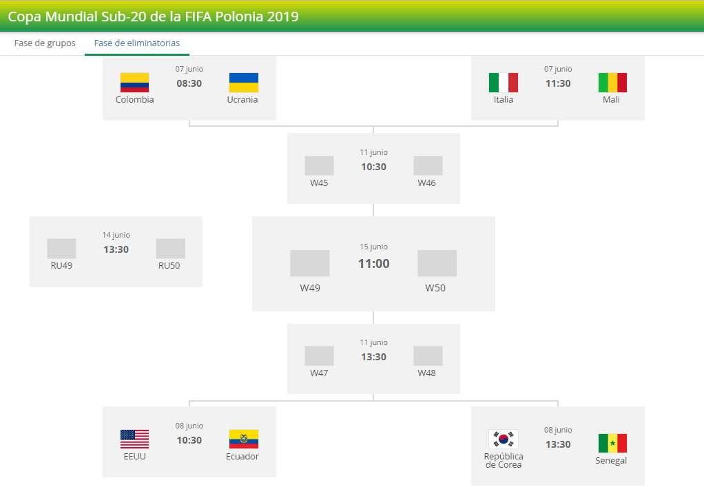 Colombia vs Ucrania: Fechas y horarios de los cuartos del ...