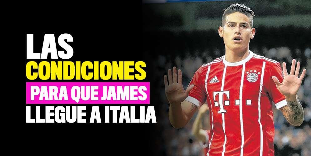 Presidente del Nápoles comunicó las condiciones para que James llegue al club