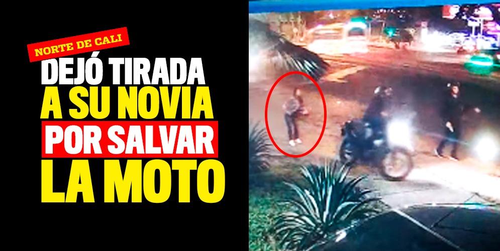 Video: Un hombre dejó a su novia tirada por salvar su moto de los ladrones