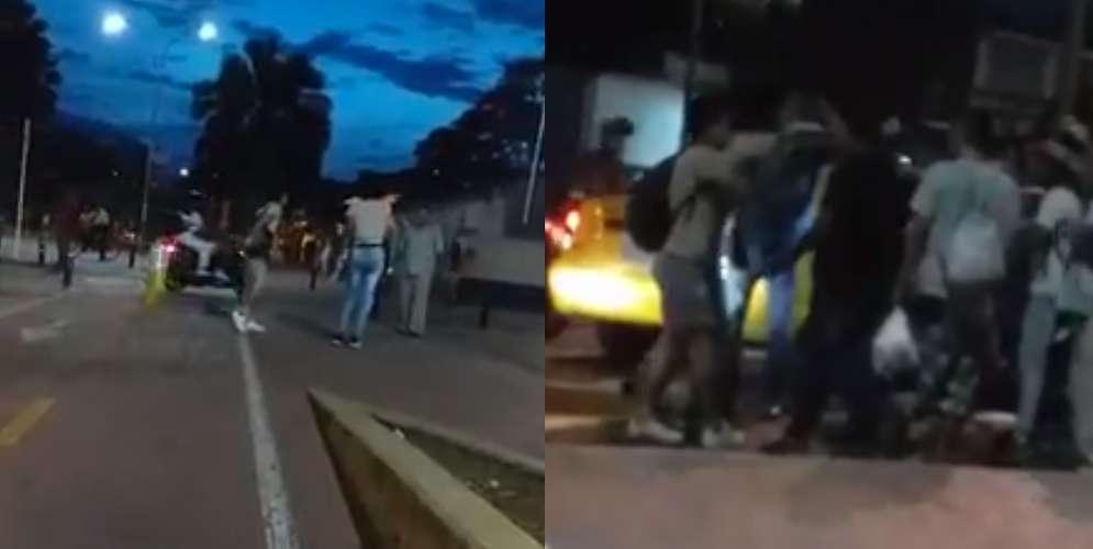 Video: Dos hombres le dañaron el taxi a un adulto mayor