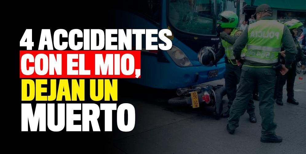 Cuatro accidentes con el MIO han ocurrido hoy. De ellos, una víctima fatal