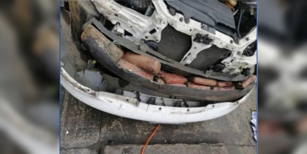 Recordando al narcobus, en Ecuador incautaron 79 kilos de marihuana en un carro que salió de Cali