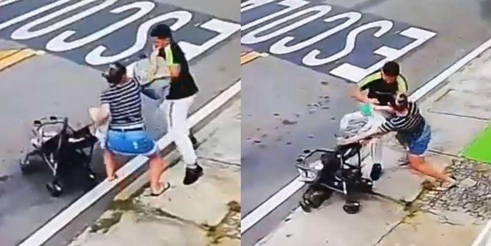 Video de una mujer que no se dejó robar