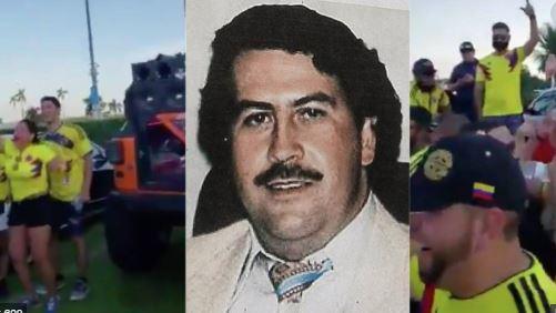 Colombianos bailaron canción de Pablo Escobar a las afueras del estadio en EE.UU
