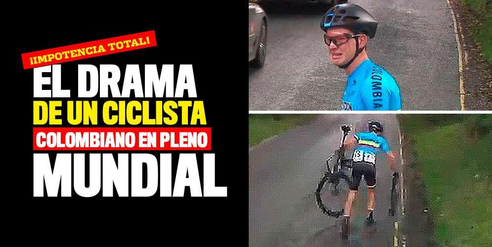 El drama de un ciclista colombiano en pleno mundial