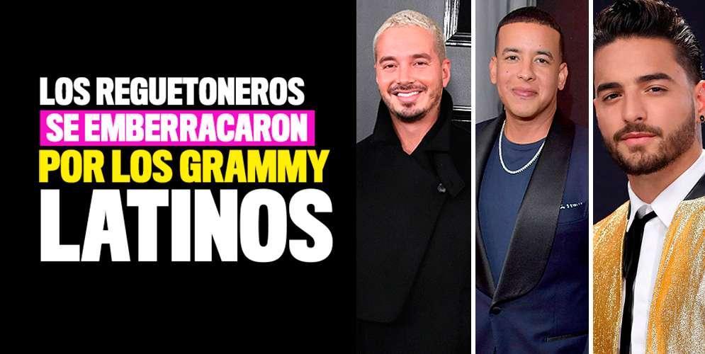 Los reguetoneros se emberracaron en los Grammy Latinos