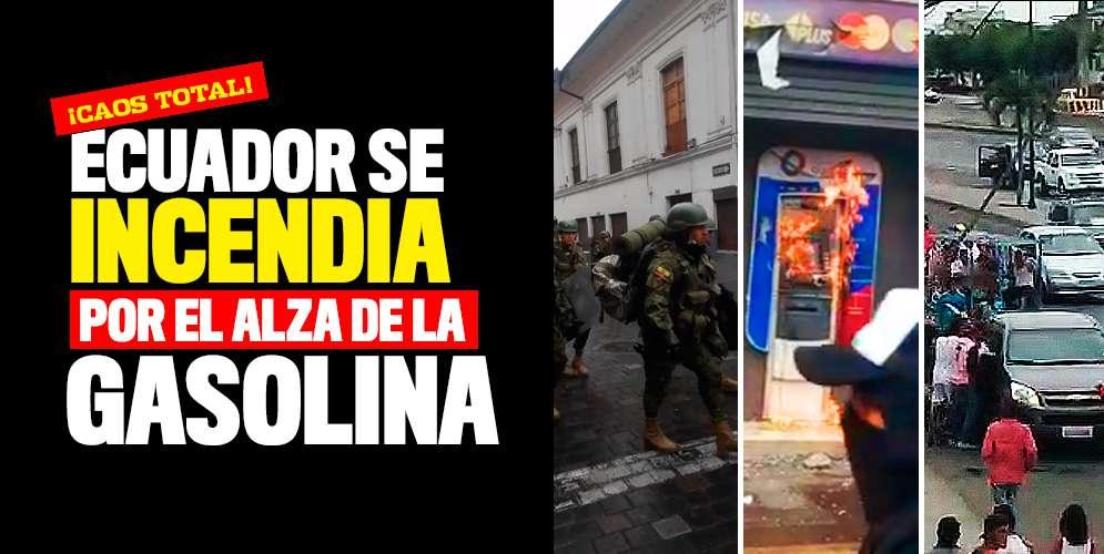 Ecuador se sale de control y todo porque les subieron la gasolina