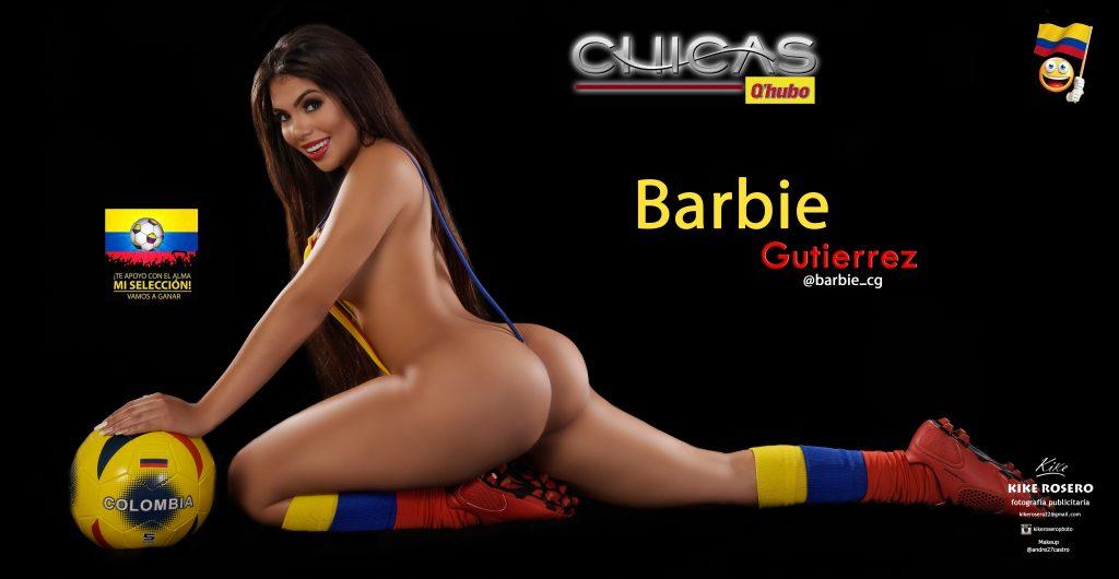 La 'Barbie' Gutiérrez se puso la tanga tricolor