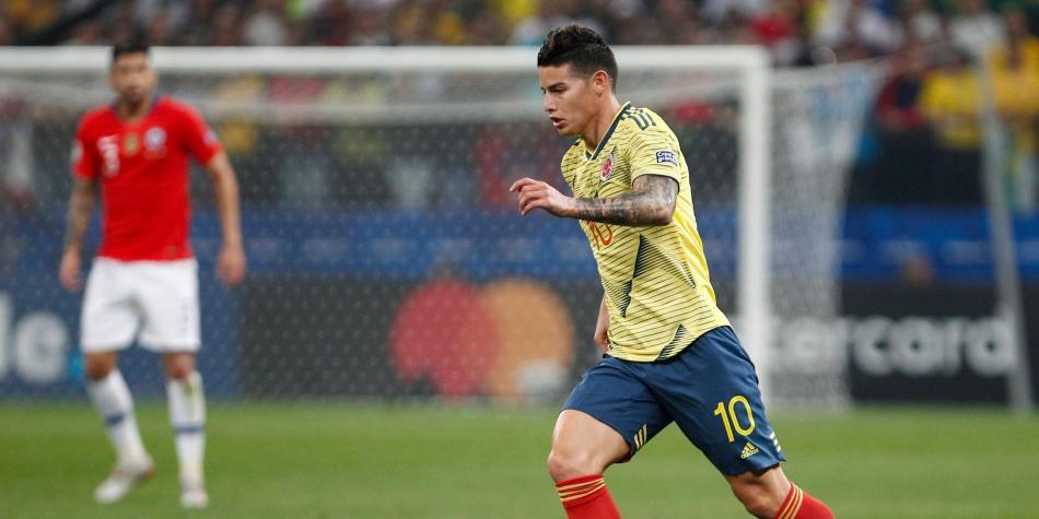 Por lesión, James Rodríguez no jugaría en amistoso contra Perú