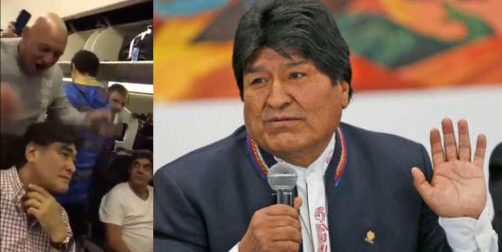 VIDEO: Pasajeros insultaron a familiar de Evo Morales e...