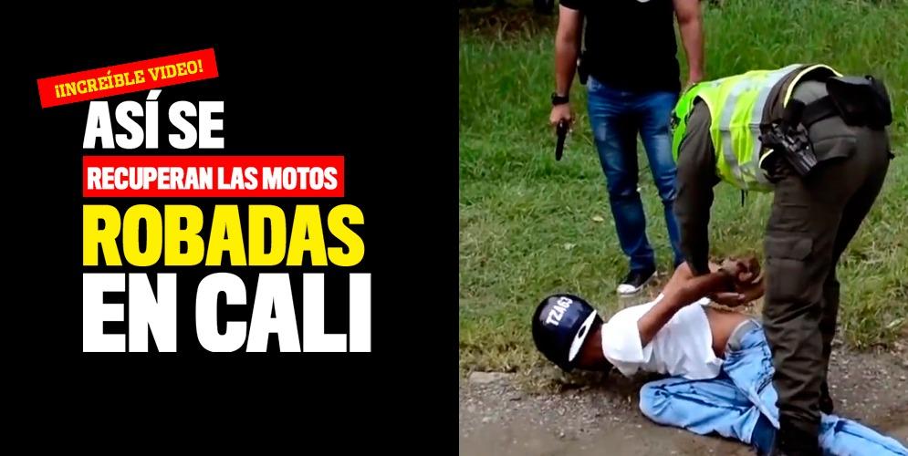 VIDEO: Así se recuperan las motos robadas en Cali