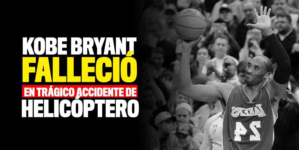 ¡Última hora! El famoso basquetbolista Kobe Bryant murió en accidente en helicóptero