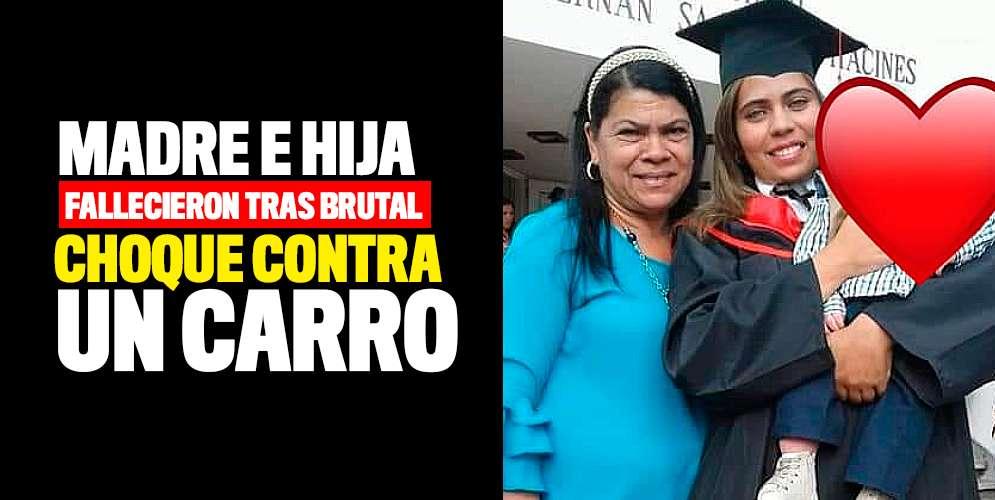 Madre e hija se mataron al chocar de frente su moto contra un carro