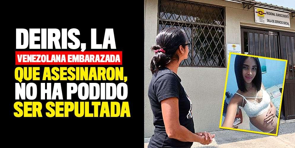 Video: Deiris, la venezolana embarazada que asesinaron en el Sucre, no ha podido ser enterrada