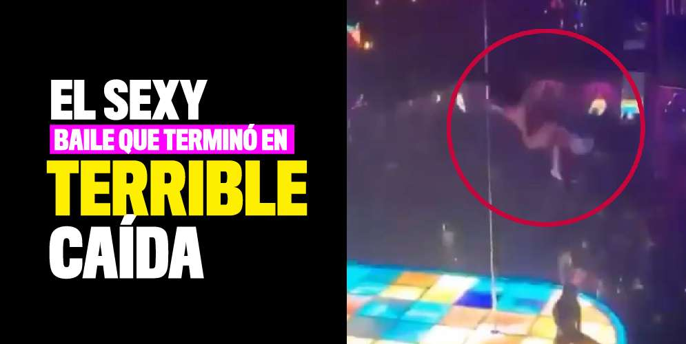 Bailarina exótica cayó desde un tubo de pole dance y continuó bailando