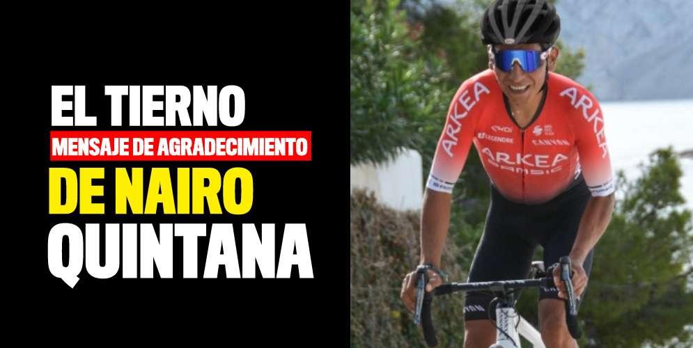 Nairo Quintana logró encontrar a su mascota perdida
