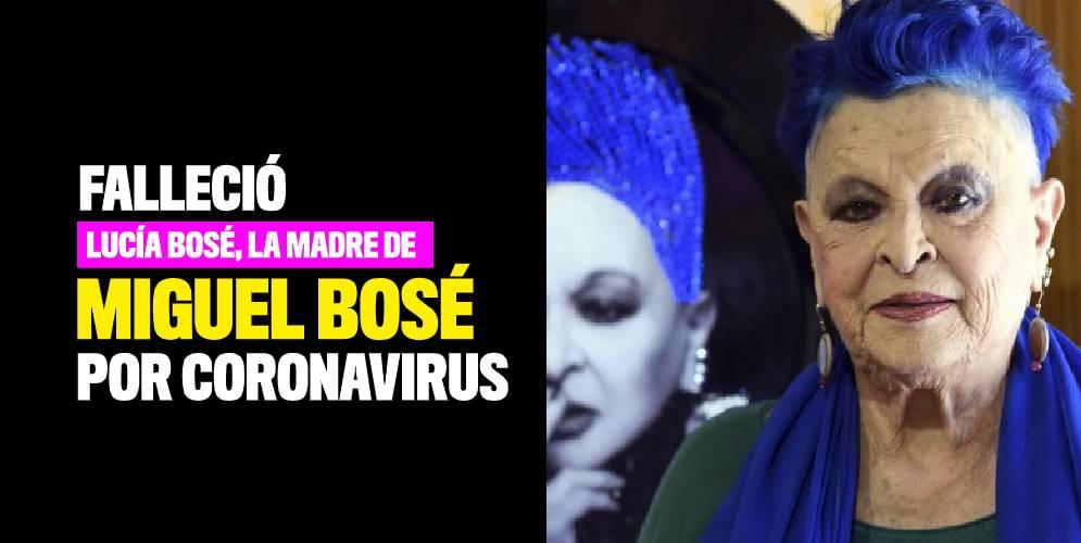 Lucía Bosé, la madre de Miguel Bosé, habría muerto por coronavirus