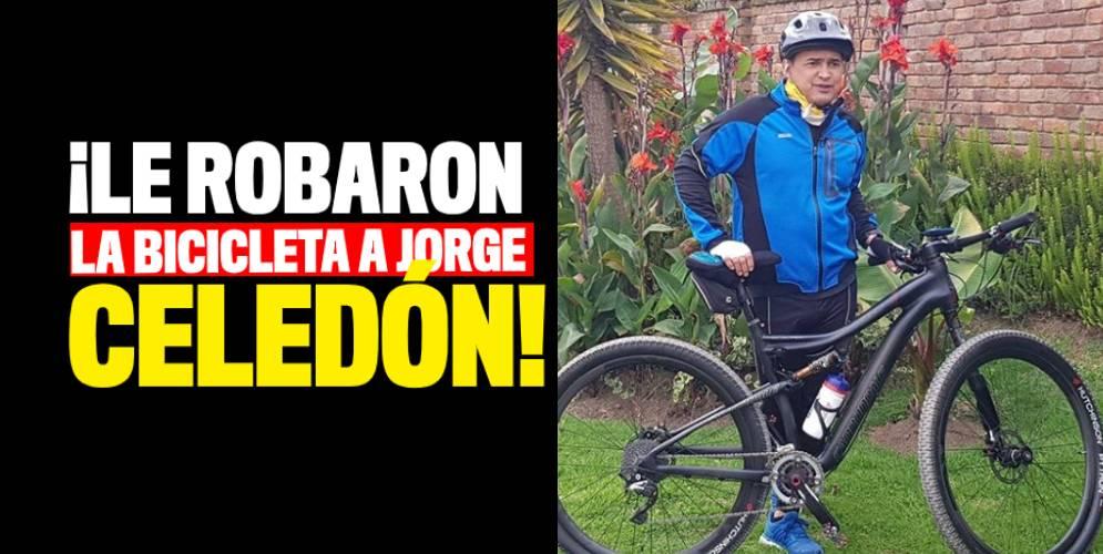 Robaron bicicleta de Jorge Celedón en Bogotá» Q'hubo Cali
