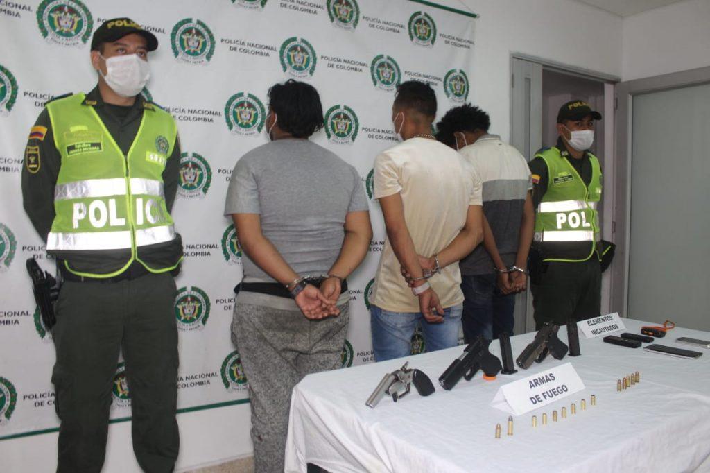 Tres delincuentes capturados después de un robo al sur de Cali