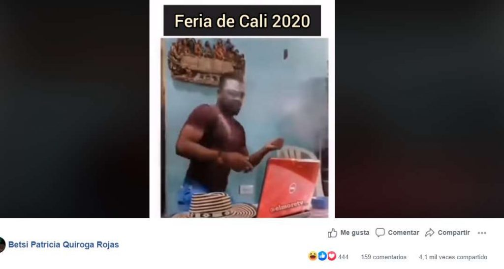 El meme que ridiculiza la Feria Virtual de Cali