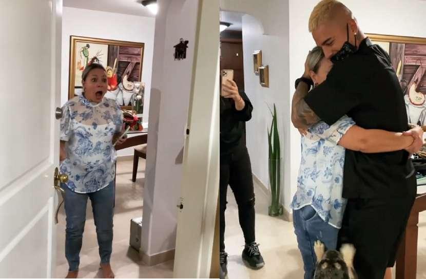 En video: El emotivo reencuentro entre Maluma y su mamá