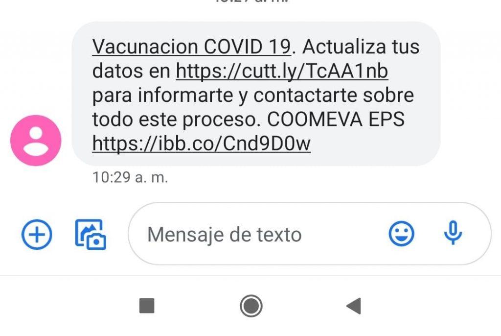 EPS Coomeva alerta sobre falsa jornada de vacunación en Cali