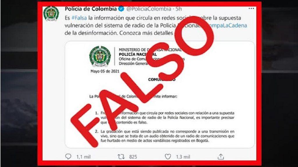 MinDefensa: Se han detectado 23 noticias falsas en el paro
