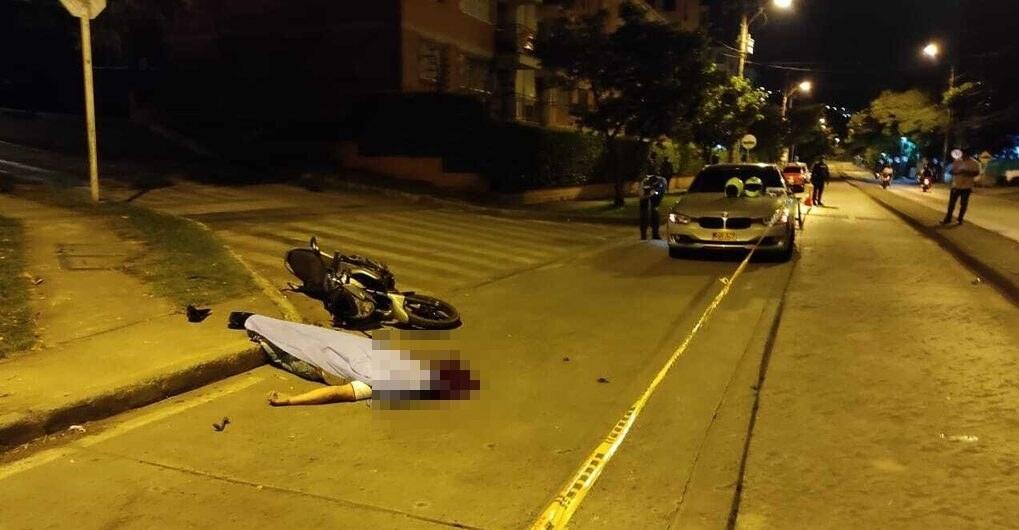 Un motociclista muerto en accidente al sur de Cali