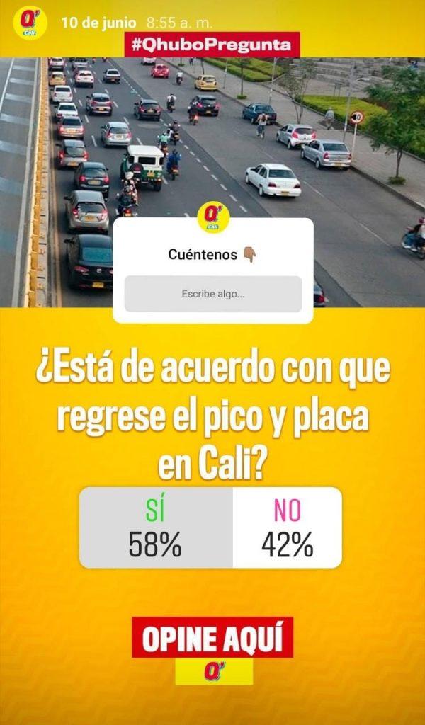 Caleños aprueban el retorno del Pico y Placa en la ciudad