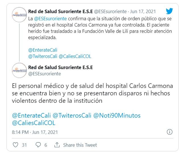 Vándalos sí atacaron la misión médica del Carmona
