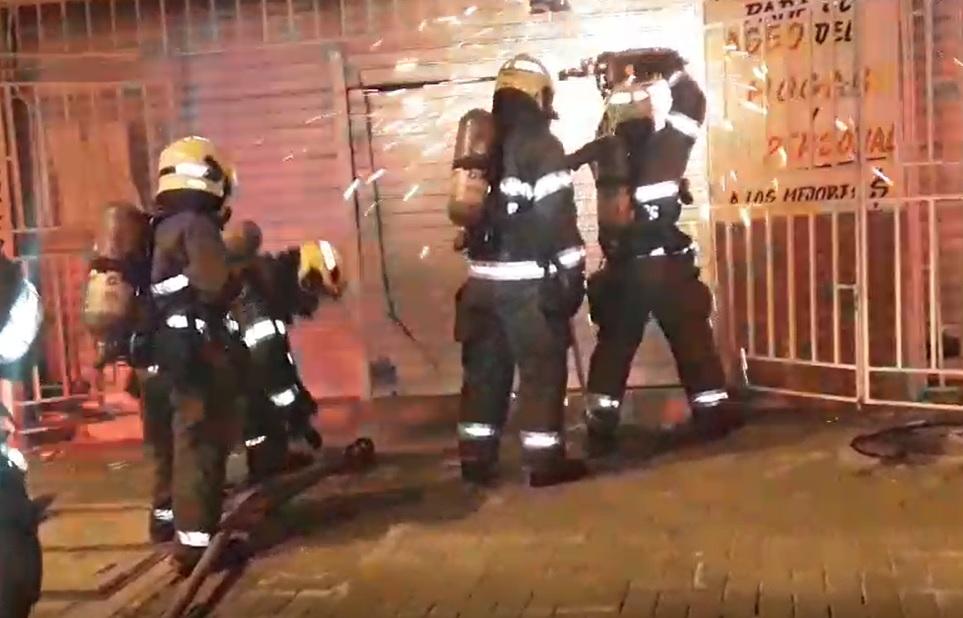 Supermercado y quesera se incendiaron en San Pedro Claver